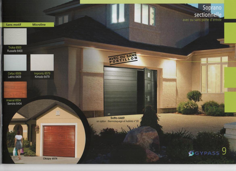 Portes de garages basculantes sectionnelles auxerre for Porte de garage sectionnelle gypass