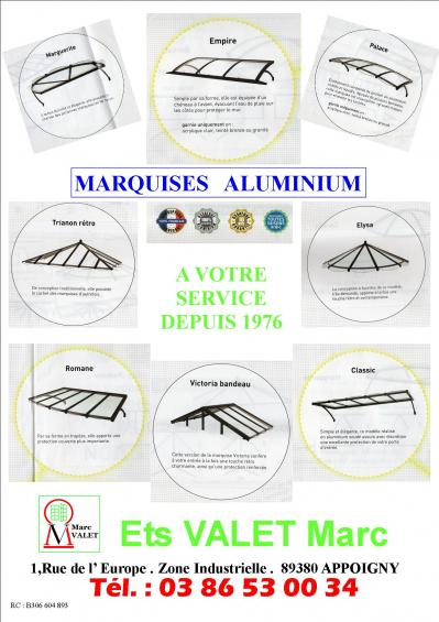 Marquises aluminium